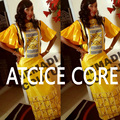 VESTIDOS PARA LAS MUJERES AFRICANAS bazin riche africano bordado vestido largo vestido con bufanda