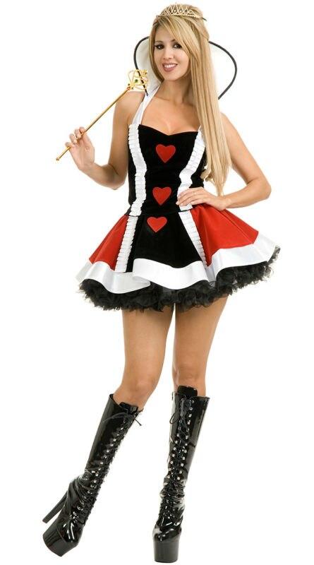 vocole halloween naughty queen of hearts costume alice in wonderland role cosplay fancy dresschina - Naughty Halloween