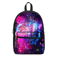 2017 New Women Galaxy Star Universe Space Canvas Backpack Multicolor School Bags For Girls Mochila Feminina
