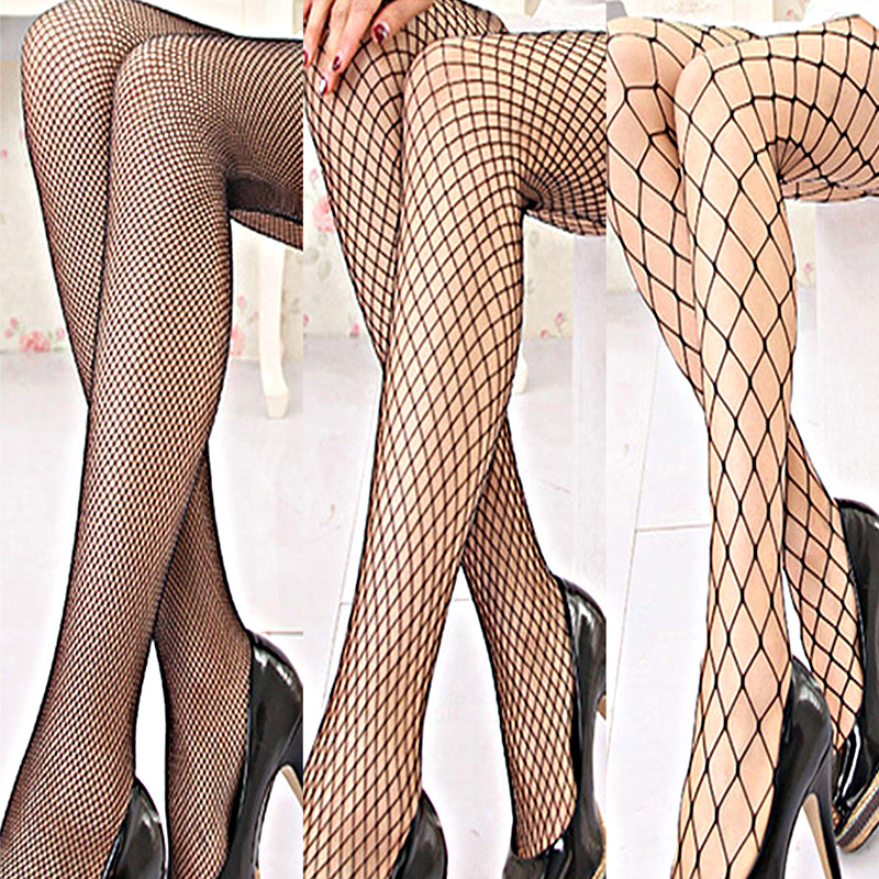 Sale Hollow Out Black Sexy Pantyhose Women's Stockings Fishnet Body Pattern Party Tights Elastic Lingerie Stockings STOCKINGS LINGERIE color: Big Net|Middle Net|Small Net