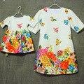 Американский бренд Европейский одежда семья посмотрите clothing печатает формы/плиссированные mididresses женщин мини-платья мать платья