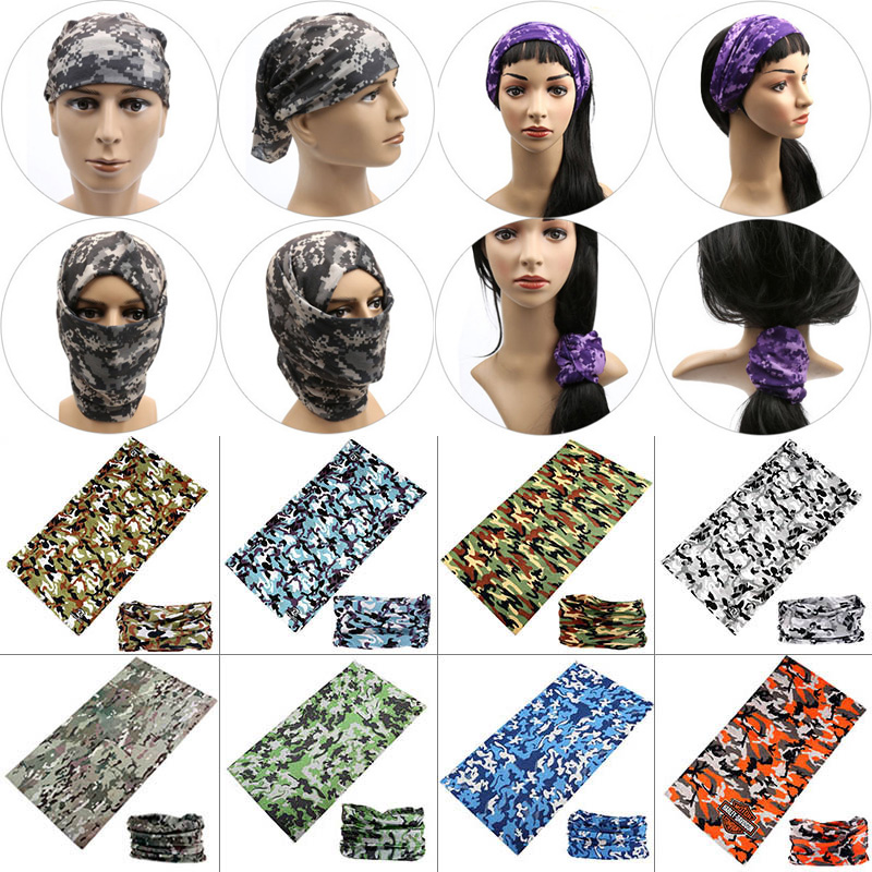 New Unisex Women Men Multicolor Magic Fashion Head Face Mask Neck Gaiter Snood Headwear Motorcycle Cycling Tube Scarf Headband