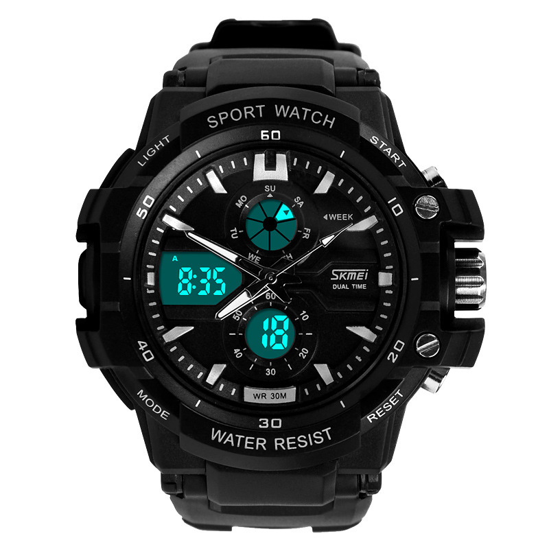 Readeel Dual Movement Sports Watches font b Men b font Electronic Digital Analog Shockproof Silicone Watch