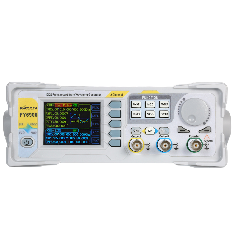 KKmoon High Precision DDS 20MHz Digital Dual-channel Signal Pulse Generator 250MSa/s Frequency Meter Function Generator
