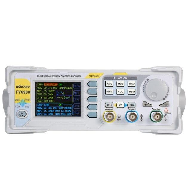 KKmoon générateur dimpulsions numérique double canal DDS haute précision, 20MHz, 250msa/s fréquencemètre