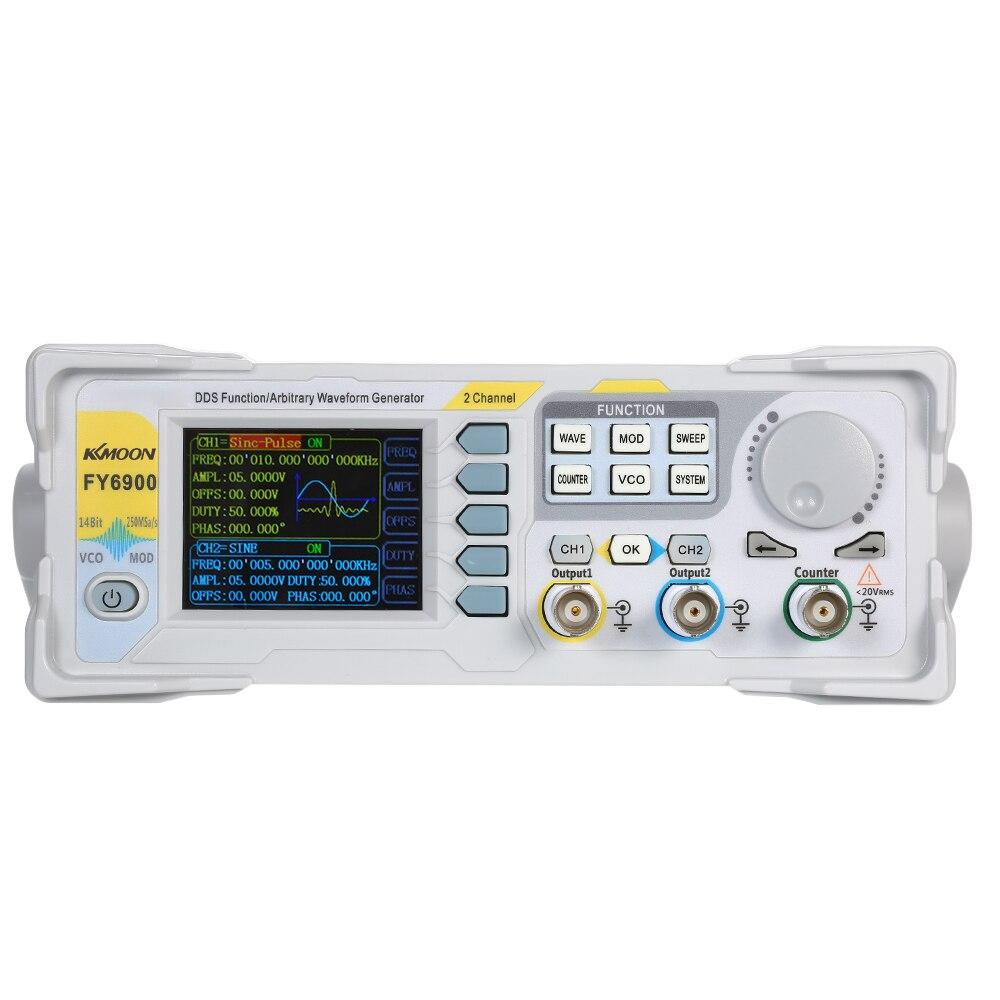 KKmoon haute précision DDS 20 MHz numérique double canal générateur d'impulsion de Signal 250MSa/s générateur de fonction de compteur de fréquence