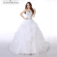 Elegant Ball Gown Wedding Dresses 2017 Robe De Mariee Sweetheart Beading Organza Custom Made Bridal Gowns