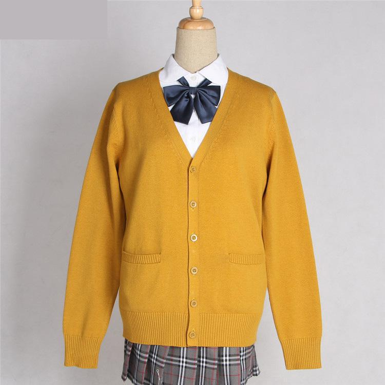 New Arrival Jk School Uniforms Cute Girls Cardigans Sweater Tops Japanese High School Students Uniform Sweaters Long Sleeve Xxl