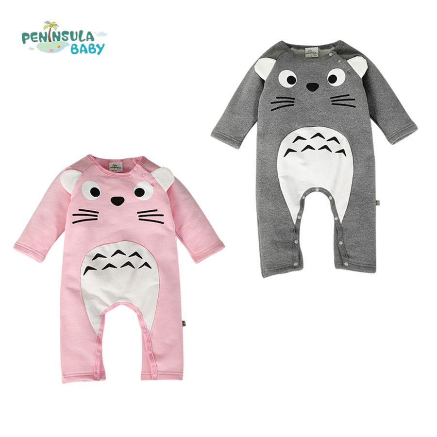 Unisex Baby Rompers Newborn Winter Baby Boy Clothing Totoro Rompers Baby Girl Overall for Infant Cotton Baby Jumpsuit baby clothing winter autumn unisex newborn baby clothes100% cotton cartoon rompers long sleeve baby product baby clothing infant
