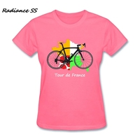 Womens t shirt Hot Sale Wholesale Tour de France Tops Luxury Brand Sleeve Biker Gift T-Shirt Women