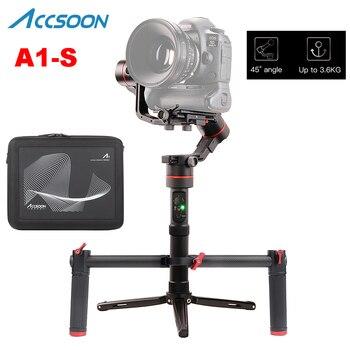 Accsoon A1-S estabilizador cardán de mano de 3 ejes 3,6Kg carga útil Visual completa sin cubierta para Mirrorless/DSLR con mango Doble