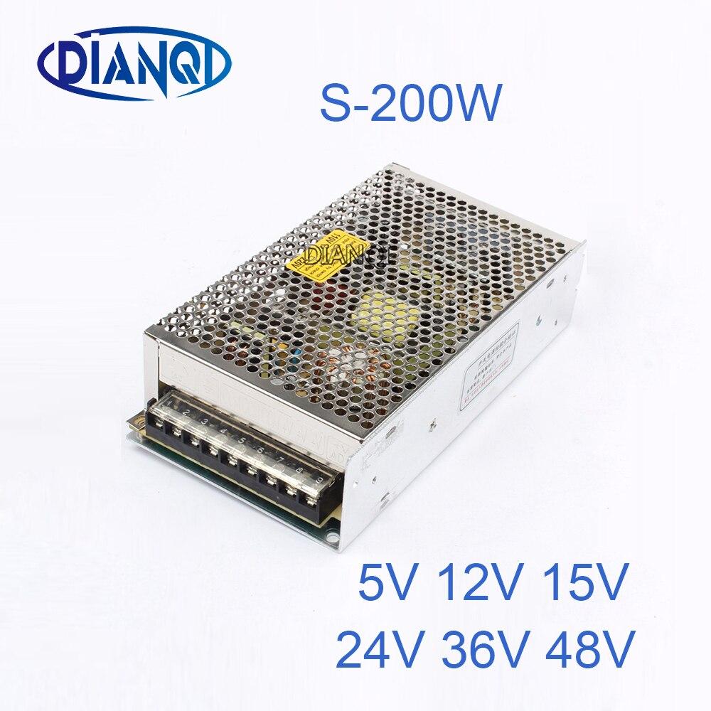 где купить DIANQI 9V Switching Power Supply 200w 5V 12V 15V ac to dc converter transform for LED strip 24V 36V 48V S-200 по лучшей цене