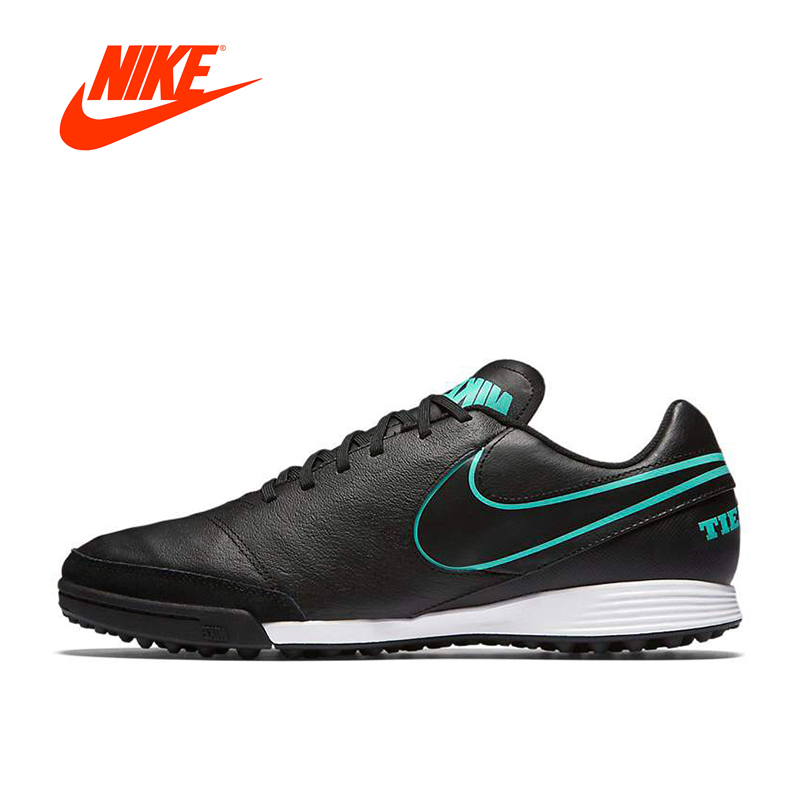 Original New Arrival Authentic NIKE TIEMPO GENIO II LEATHER TF Men's Comfortable Light Football Shoes Soccer Sneakers nike бутсы tiempo genio ii leather fg