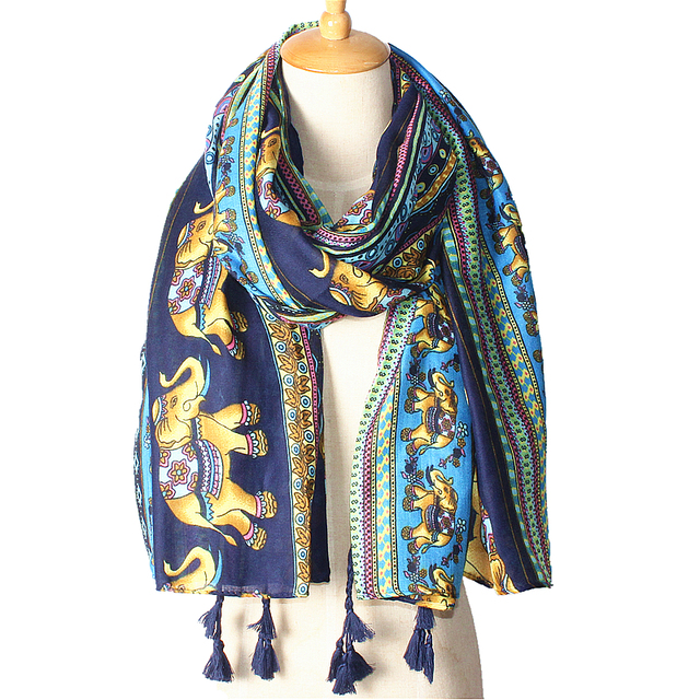 Elephant Print Scarf | Blanket Scarves | Upto 60% Off Now