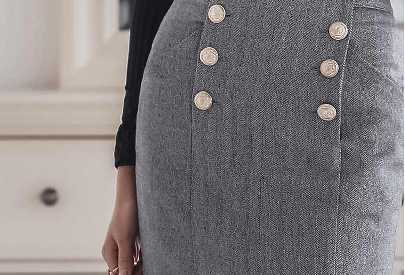 エレガントな Ol の仕事セット女性 2 ピーススーツセクシーな黒 V ネッククロップトップ & ハイウエストスプリット鉛筆ボディコンスカート 2019 春