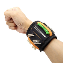 Geoeon Magnetic Wristband Multi-function Portable Tool Bag Electrician Wrist Tool for Holding Screws, Nails, Drill Bits A35 strong magnetic wristband bracelet portable tool bag for holding screws nails drill bits tool wrist belt magnetic wristband