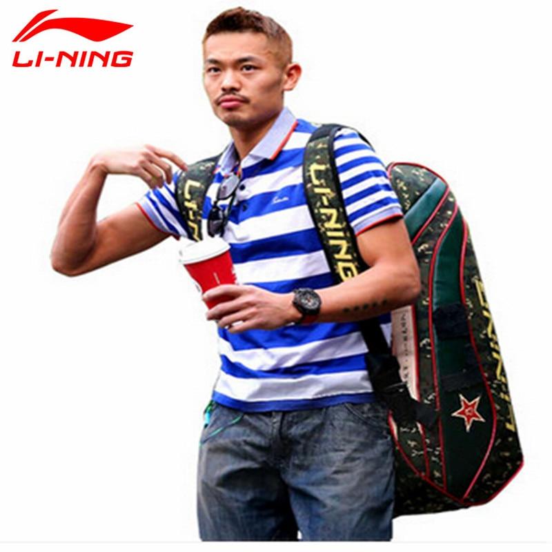 Lindan Lining Badminton Rackets Bag 2015 New Genuine 6/9 Racquets Load Badminton Bag Li-ning ABJJ096/ABJJ088 Backpack цена