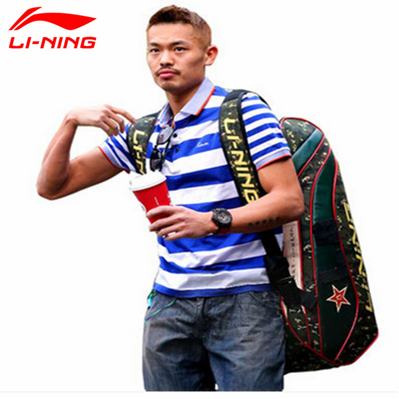 Lindan Lining Badminton Rackets Bag 2015 New Genuine 6/9 Racquets Load Badminton Bag Li ning ABJJ096/ABJJ088 Backpack