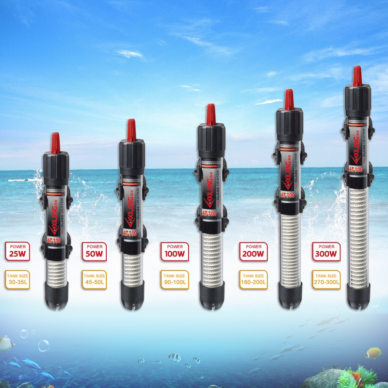 Submersible Water-Heater Aquarium Eu-Plug Constant-Temperature-Heating-Rod Fish-Tank