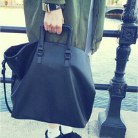 Women Handbag 2018 Big Leather Bag Soft Black Female Crossbody Bag Solid Casual Shoulder Bags Large Capacity Shopper Tote Purses