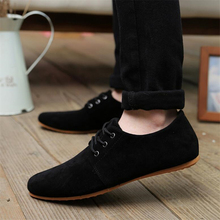 Plus size 39-46 2017 mens casual shoes Breathable fashion brand walking men shoes suede leather shoes for men Oxford Shoes