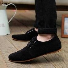 Плюс размер 39-46 2017 мужская повседневная обувь Дышащая моды бренд пешеходные мужской обуви замши обувь для мужчин оксфорд Обувь