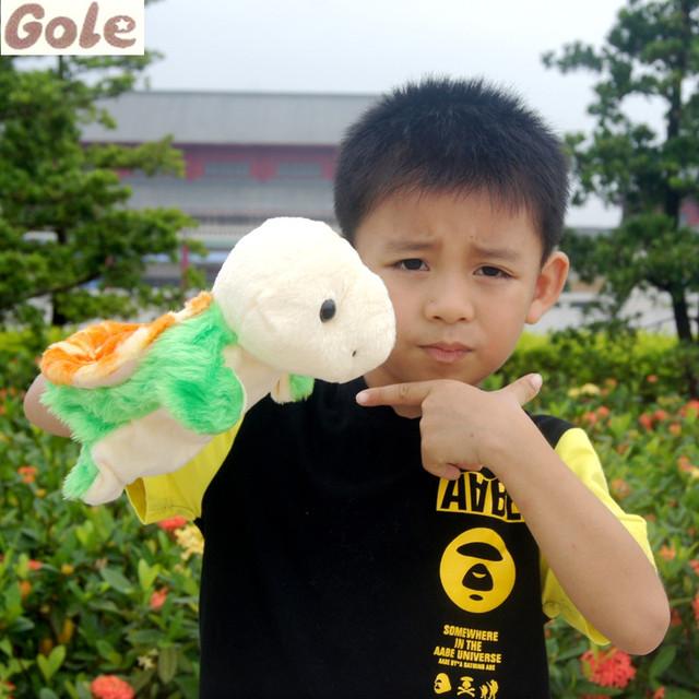 Tortuga Juguetes Marioneta de Mano Guantes de Muñecas Juguetes Para Bebés Juguetes De Peluche Tortuga Verde de Buena Calidad Alta Marionetas Juguetes Educativos