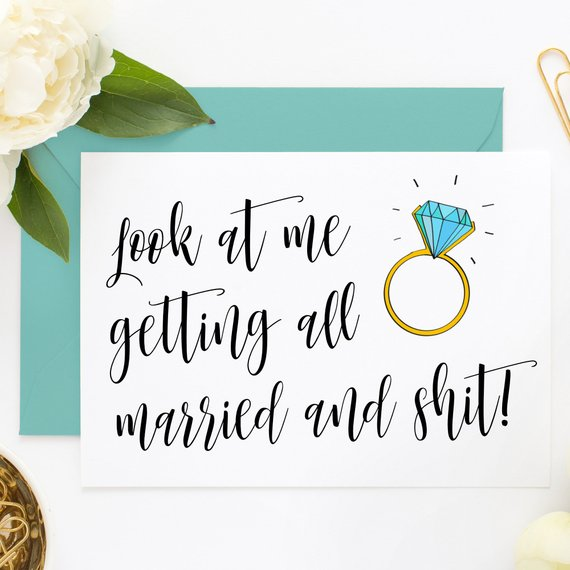 Personalize Funny Bridesmaid Proposal Cards, Will You Be