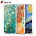 Phone Cases For iPhone 7 Plus 6 6s plus 5 5s SE 4 Case Floral Plant Vincent Van Gogh Starry Sky Painting Vintage Art Soft Case