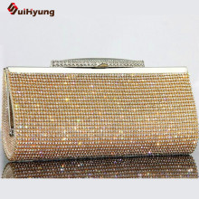 2016 Luxury Bling Rhinestone Party Evening Bag Women Party Handbag Purse Upscale Full Diamond Day Clutches Shoulder Bag