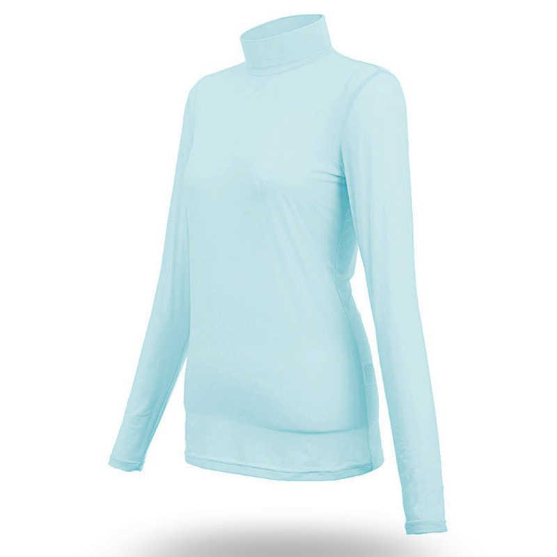 PGM Golf Wanita Tshirt Pakaian Olahraga Lengan Panjang Pakaian Wanita Memakai T-shirt Tabir Surya UV Bernapas Outdoor Golf Wanita Pakaian