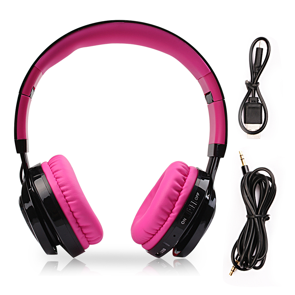 New Wireless headphone with microphone bluetooth  for iphone samsung computer with led light gaming headset support FM TF wireless bluetooth 3 0 headset gaming headphone for sony ps3 samsung iphone