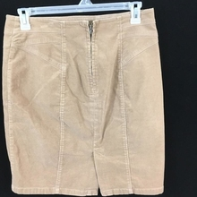 Ann Taylor petite skirt womens Size 14P brown corduroy knee length 57bdac96796c