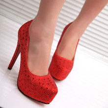 New Women Shoes Super High (8cm-up) Thin High Heel Round Toe Slip-On Wedding Shoes Lady Party Club Female Pumps Shoes Plus Size 2018 spring heel high heels sandals lady pumps classics slip on shoes sexy women party shoes red black wedding slingbacks 8cm
