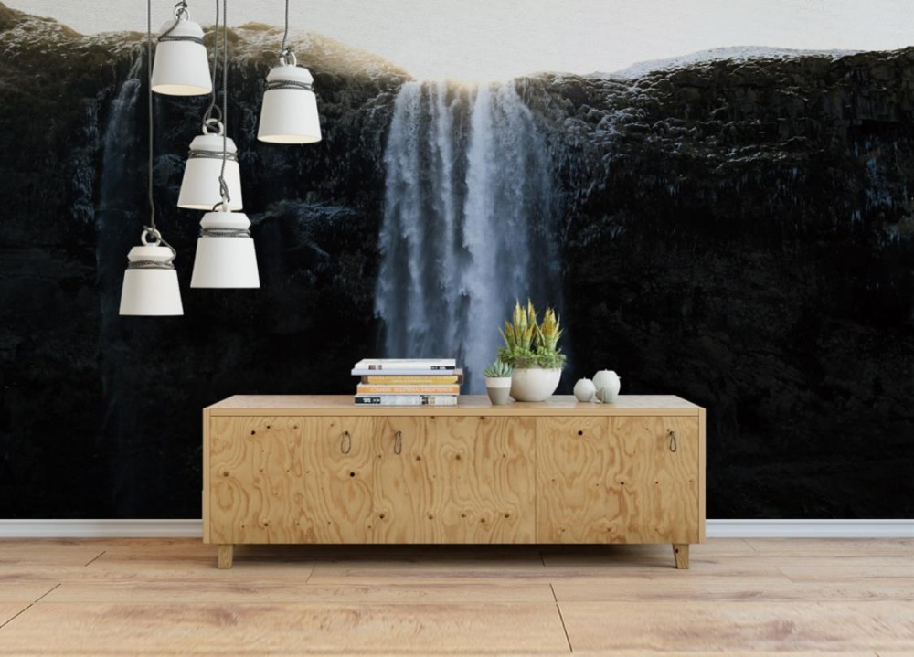 3d Wall panels Waterfall European style nonwoven-wallpaper Modern Wall papers Home Decor Living Room Bedroom Sofa Background  3d european style home decor wall sticker