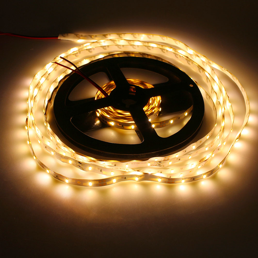 Tanbaby SMD3014 led strip light DC12V flexible led tape 60Leds/M IP20 Waterproof fairy indoor decoration for Party,Bar,Wedding