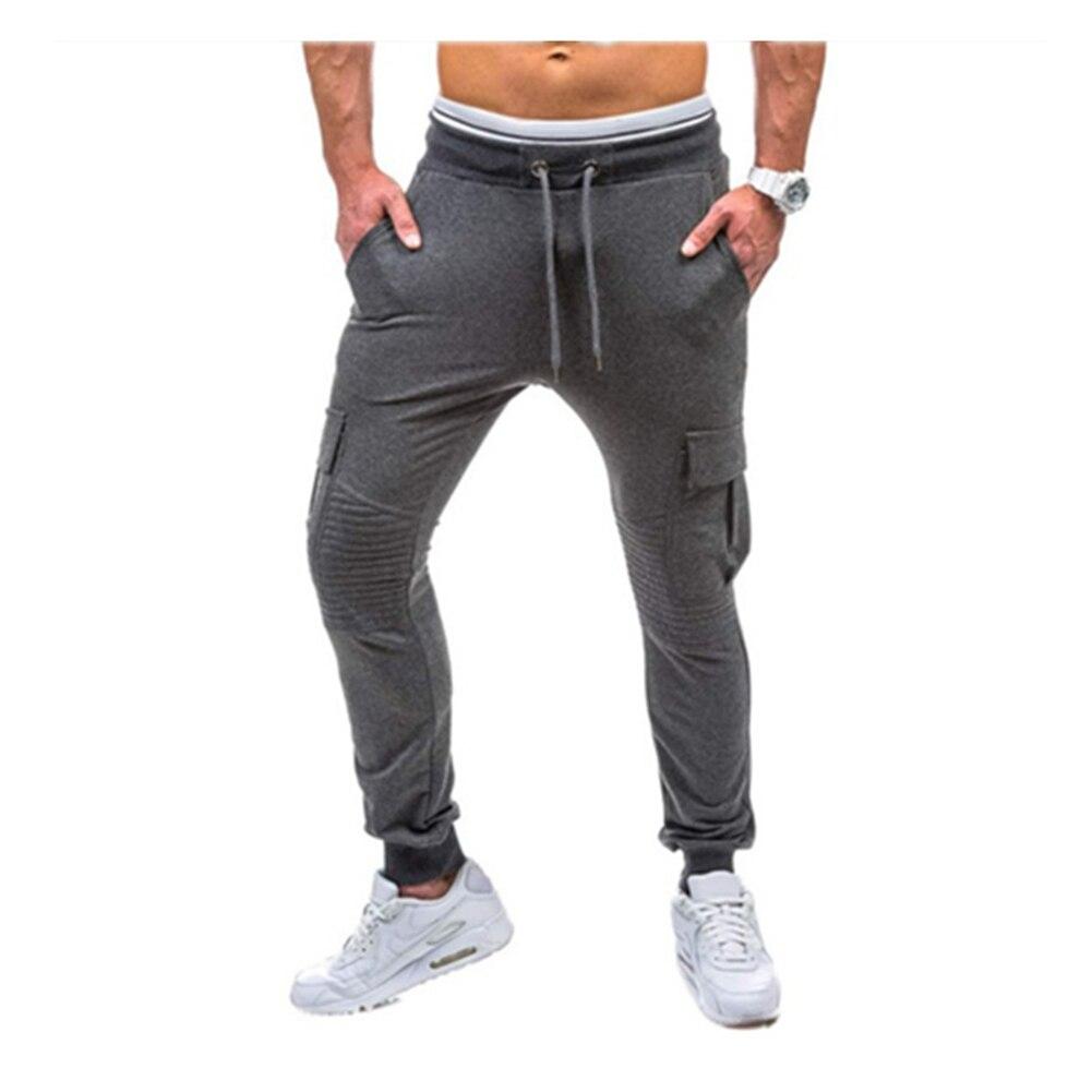 Men Sweatpants Hip Hop Pants 2017 Male Trousers Mens Joggers Black Gary Drawstring Sweat pant