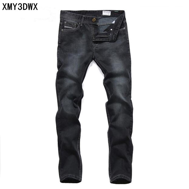 2017 Newly Desinger Men's Jeans High Quality Straight Slim Fit Ripped Jeans For Male Casual Business Denim Pants Brand Jeans Man men s cowboy jeans fashion blue jeans pant men plus sizes regular slim fit denim jean pants male high quality brand jeans