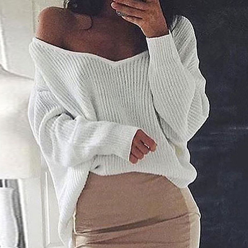 1 Pc Neue Mode Stil Frauen Langarm Solide Pullover Pullover Tops Weibliche Herbst Absicherung Lose Pullover Casual Pullover