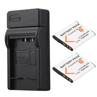 2x 1000mAh NP BN1 NP BN1 NPBN1 Digital Camera Battery Bateria USB Charger For Sony TX9