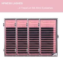 Eyelash Extension 4 trays/lot Silk Mink Lashes Individual Lashes 8-15mm All Sizes Classic Eye Lashes HPNESS smashbox all lashes set