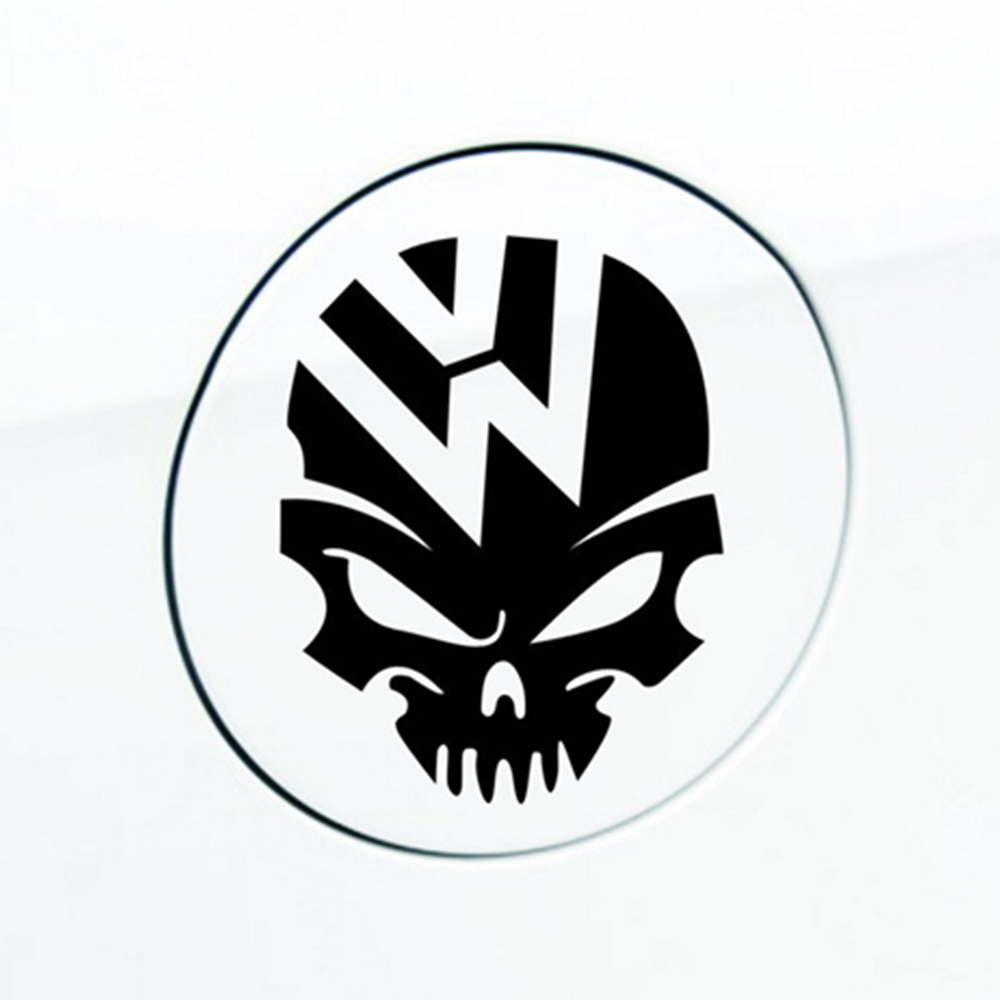 1pc Cool logo Reflective Car Skull Tank Decal Sticker for