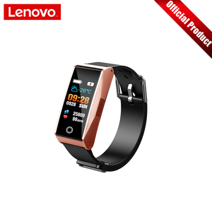 """Image 4 - Lenovo Smart Wristband Heart Rate Blood Pressure Sports Watch 0.96"""" TFT Touch Screen Metal Body Support Multiple Languages"""