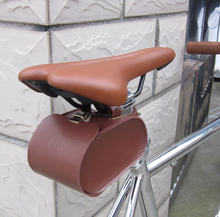 Taiwan Kaile imitation leather cool style  thick vintage bicycle saddle rear bag  Carrying Case bag