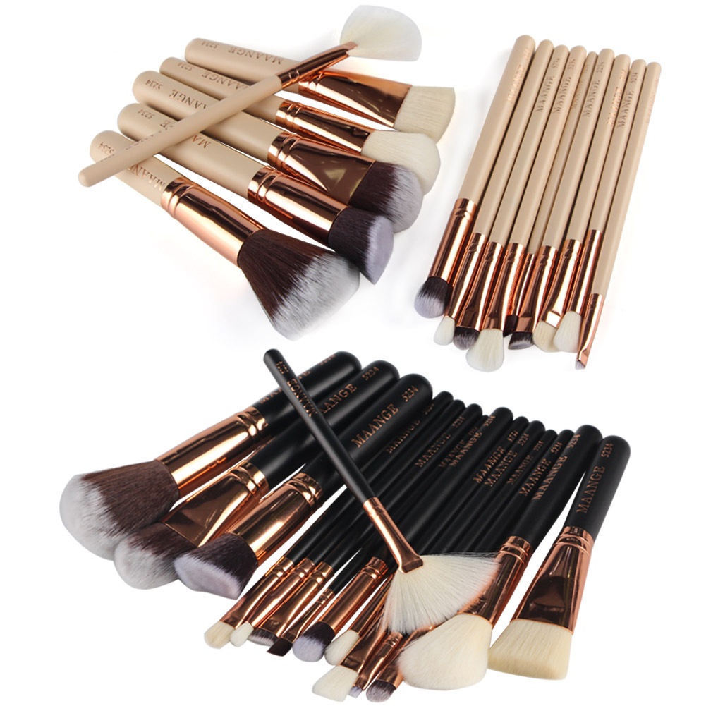 15 Pcs Makeup Brushes Tools Make-up Kits Brush Set Eyebrow Eye Shadow Blush Make Up Brush Set daily life eyebrow extension kits making up tools for eyebrow