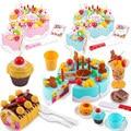 38-75 шт. детский торт, притворяться, играть, кухонные игрушки, фрукты, резка, день рождения, торт, безопасные пищевые наборы, игра, дом, игрушка ...