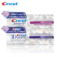 Crest Toothpaste Glamorous And Brilliance For Adults Oral Hygiene Crest 3D White Toothpaste 116gX2
