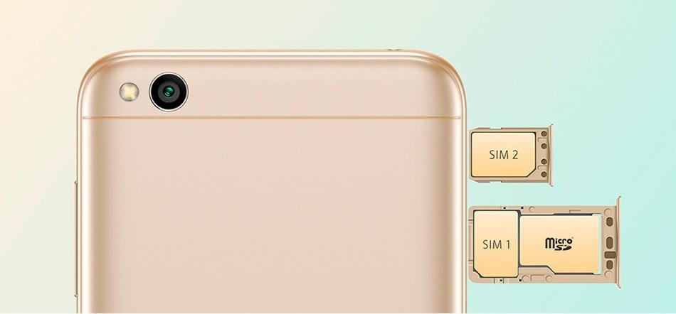 Redmi 5A global version Card Slot