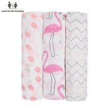3PCS/LOT 80*80cm Baby Receiving Blanket 100% Cotton Muslin Soft Swaddle Wrap Cloth diaper Infant Nursing Cover Bath Towel Unisex