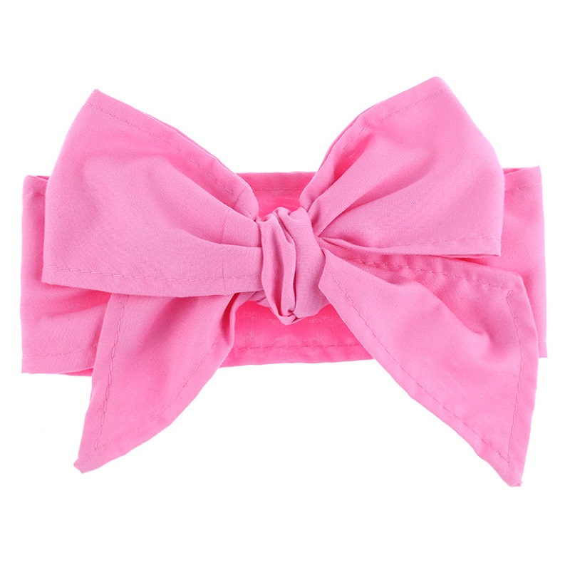 2017 New Hair Accessories Vintage Kids Solid DIY Turban Rabbit Ears Headband Girls Big BowKnot Hairbnd Headwrap